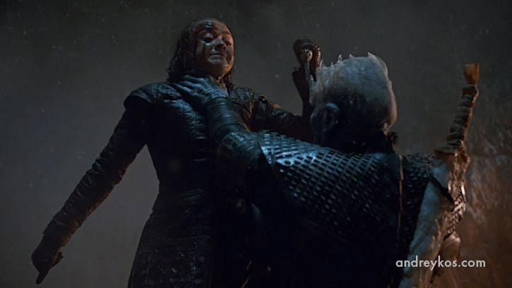 Ария Старк, Король ночи, Игра престолов, 8 сезон, 3 ссерия